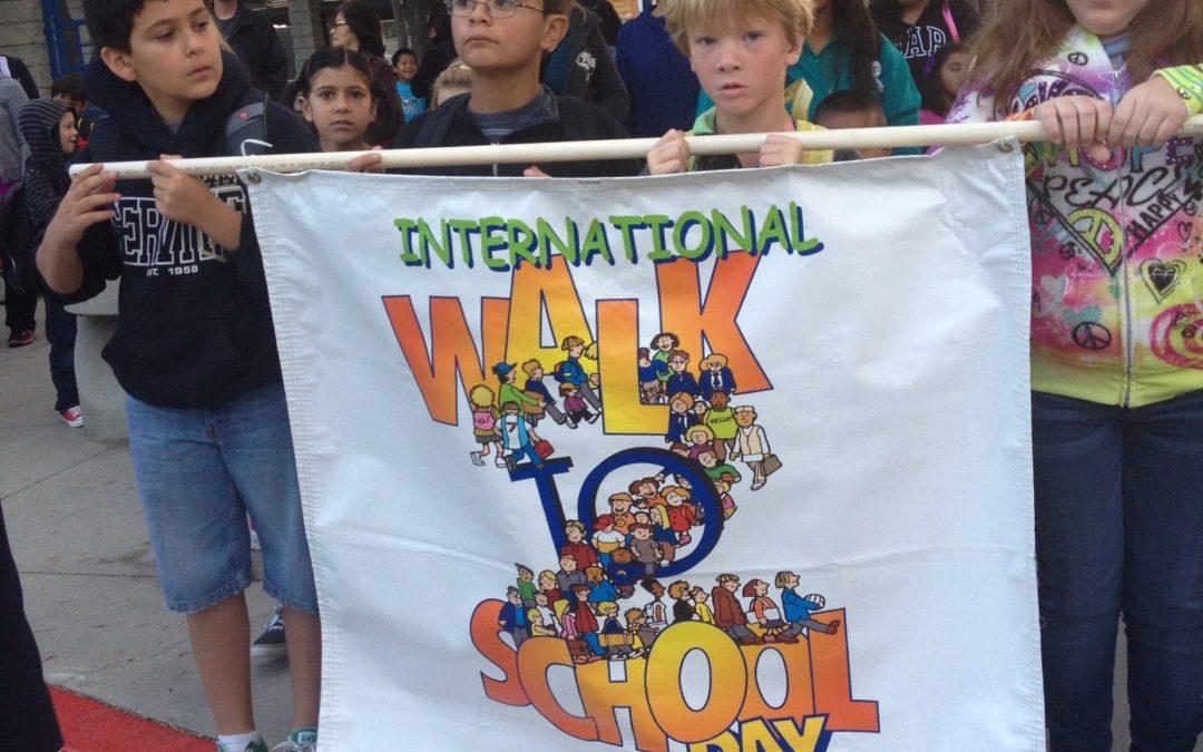 Walking to School on National Walk To School Day 2013