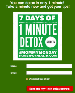 1 min Detox Optin