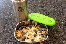 Blueberry morning on the go, family for health